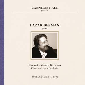 Lazar Berman at Carnegie Hall, New York City, March 11, 1979