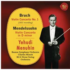 Bruch: Violin Concerto No. 1, Op. 26 - Mendelssohn: Violin Concerto in D Minor, MWV 03
