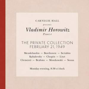 Vladimir Horowitz live at Carnegie Hall - Recital February 21, 1949