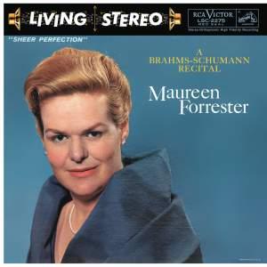 Maureen Forrester - A Brahms-Schumann Recital