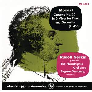 Mozart: Piano Concerto No. 20 in D Minor, K. 466 & Piano Concerto No. 22 in E-Flat Major, K. 482