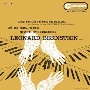 Ravel: Piano Concerto in G Major, M. 83; Bernstein Seven Anniversaries; Coplan: Piano Sonata; Blitzstein: Dusty Sun; Bernstein: I hate music