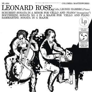 Schubert: Arpeggione Sonata & Boccherini: Cello Sonata in A Major & Sammartini: Cello Sonata in G Major