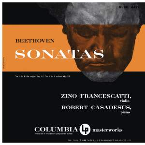 Beethoven: Violin Sonatas Nos. 3 & 4
