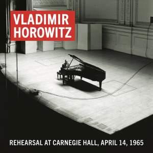 Vladimir Horowitz Rehearsal at Carnegie Hall, April 14, 1965