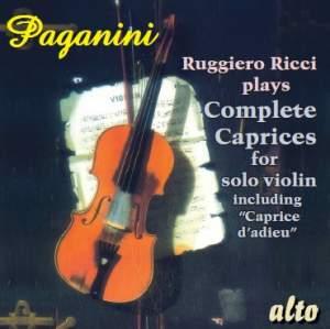 Paganini - Complete Caprices for violin