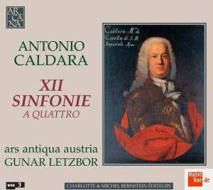 Caldara: Sinfonie (12) a quattro for strings and basso continuo