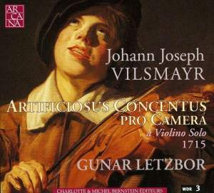 Vilsmayr: Artificiosus Concentus pro Camera a Violin Solo