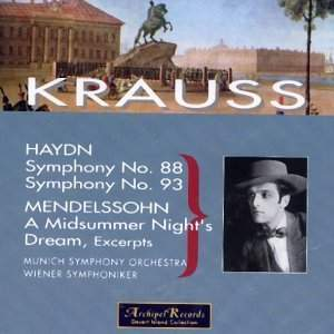Clemens Krauss conducts Haydn and Mendelssohn