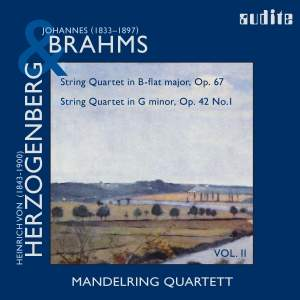 Brahms: String Quartet No. 3 & Herzogenberg: String Quartet in G minor