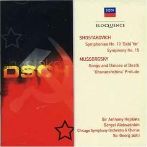 Shostakovich: Symphonies Nos. 13 & 15