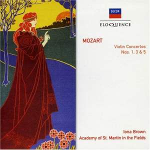 Mozart: Violin Concertos Nos. 1, 3 and 5