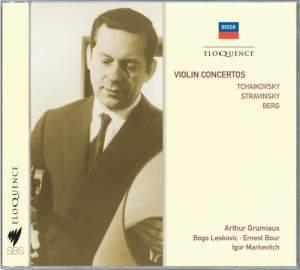 Stravinsky, Berg, Tchaikovsky - Violin Concertos