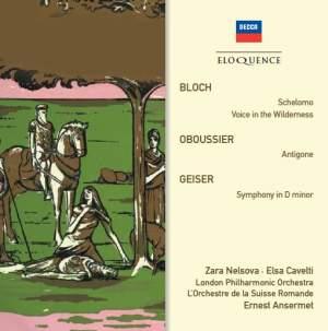 Ernest Ansermet conducts Bloch, Oboussier & Geiser