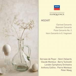 Mozart: Clarinet Concerto, Bassoon Concerto, Flute Concerto No. 2 & Fragment from Horn Concerto in E