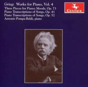 Grieg: Works for Piano, Vol. 4