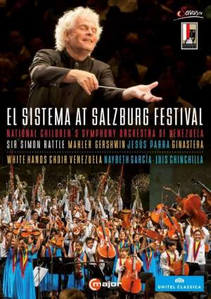 Simon Rattle et al conducts at the El Sistema At Salzburg Festival