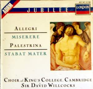 Allegri: Miserere & Palestrina: Stabat Mater