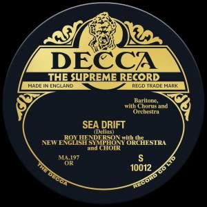 Delius: Sea Drift - Vinyl Edition Product Image