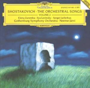 Shostakovich: Orchestral Songs Vol. 2