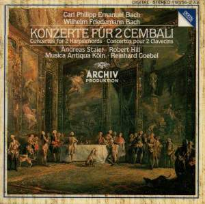 C.P.E. & W.F. Bach: Concertos for two harpsichords