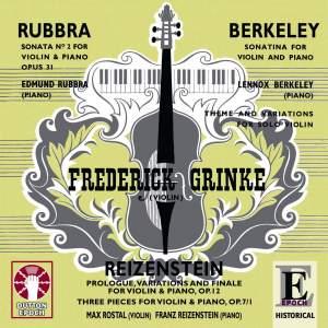 Edmund Rubbra, Lennox Berkeley & Franz Reizenstein