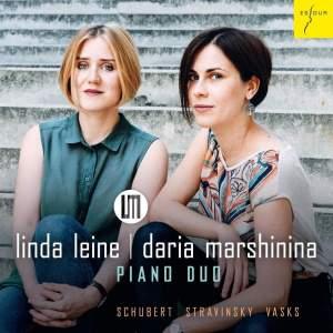 Schubert, Stravinsky & Vasks: Works For Piano Duo