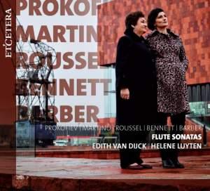 Prokofiev, Martinu, Roussel, Bennett & Barber: Flute Sonatas