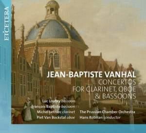 Vanhal: Concertos for Clarinet, Oboe & Bassoon