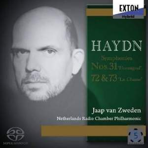 Haydn: Symphonies Nos. 31, 72 & 73