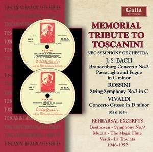 Memorial Tribute to Toscanini