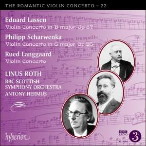 Lassen, Scharwenka & Langgaard: Violin Concertos Product Image