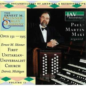 Great Organ Builders Of America: A Retrospective (Volume 11)
