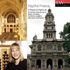 Faythe Freese a l'orgue de l'Eglise de la Sainte-Trinité, Paris
