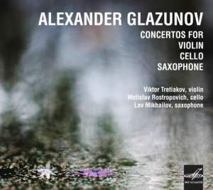 Glazunov: Concertos for Violin, Cello, Saxophone