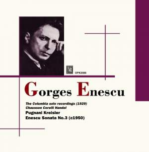 Georges Enescu: The Columbia Solo Recordings Product Image