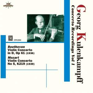 Kulenkampff Violin Concerto Recordings Volume 1