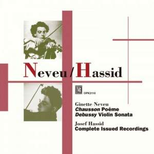Ginette Neveu & Josef Hassid: Recordings Product Image