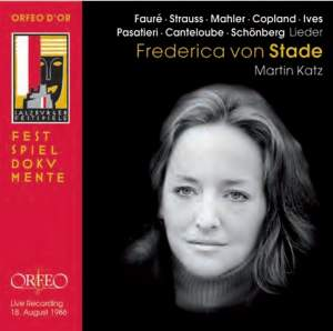 Liederabend: Frederica von Stade