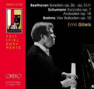 Beethoven, Schumann, Brahms: Emil Gilels