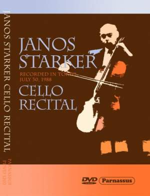 János Starker Cello Recital