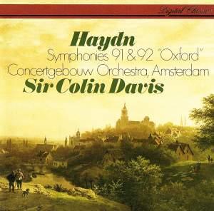 Haydn: Symphonies Nos. 91 & 92