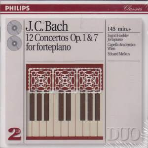 JC Bach: 12 Concertos Opp. 1 & 7 for fortepiano