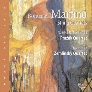Martinu - String Quartets Nos. 1, 3 & 6
