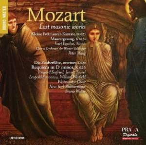Mozart: Last Masonic Works