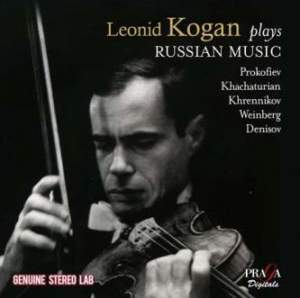 Leonid Kogan plays Russian Music - Praga: PRD250373 - 2 CDs | Presto