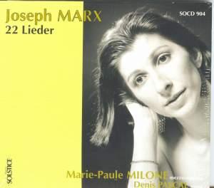 Joseph Marx: 22 Lieder