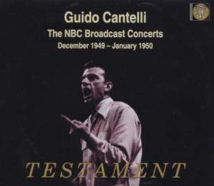 Guido Cantelli conducts the NBC Symphony Orchestra in works by Handel, Bach and other composers