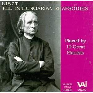 Liszt: 19 Hungarian Rhapsodies played by 19 Great Pianists