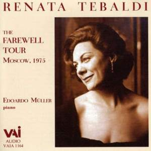 Renata Tebaldi: Farewell Recital, Moscow 1975